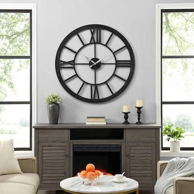 40 in Black Big Time Clock
