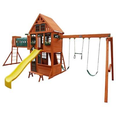 Huntington Resort Wooden Swing Set