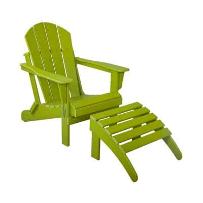 Lime Adirondack Chairs Patio Chairs The Home Depot