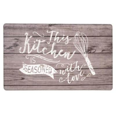 Kitchen Whisk 18 in. X 30 in. Gray Anti-Fatigue Mat