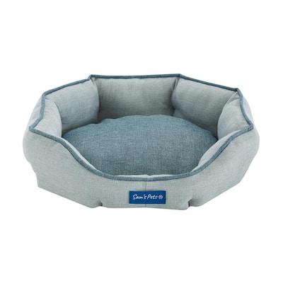 Arthur Small Gray Hexagon Dog Bed