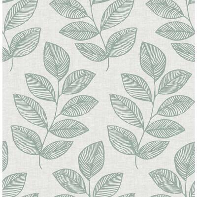 Fern Green Sprig Self Adhesive Wallpaper Sample