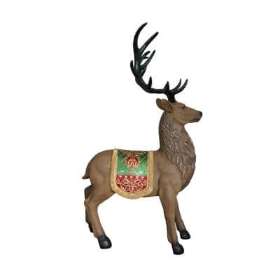 60 in. Christmas Commercial Grade Standing Reindeer Fiberglass Outdoor Decoration