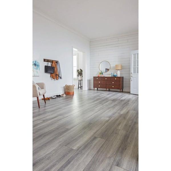 Home Decorators Collection Disher Oak, Grey Laminate Flooring Home Depot
