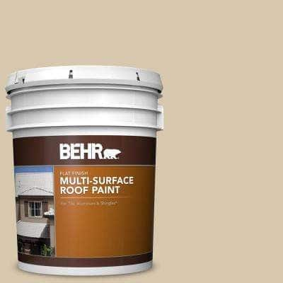 5 gal. #RP-15 Summer Sage Flat Multi-Surface Exterior Roof Paint