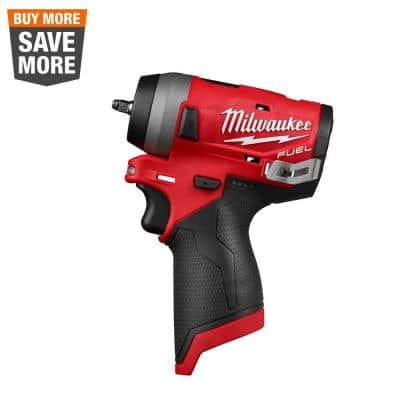 M12 FUEL 12-Volt Lithium-Ion Brushless Cordless Stubby 1/4 in. Impact Wrench (Tool-Only)