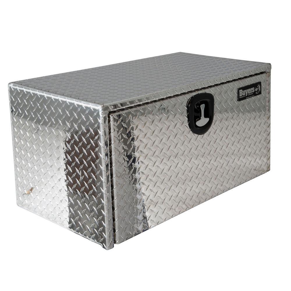 24 in. x 24 in. x 36 in. Diamond Plate Tread Aluminum Underbody Truck Tool Box