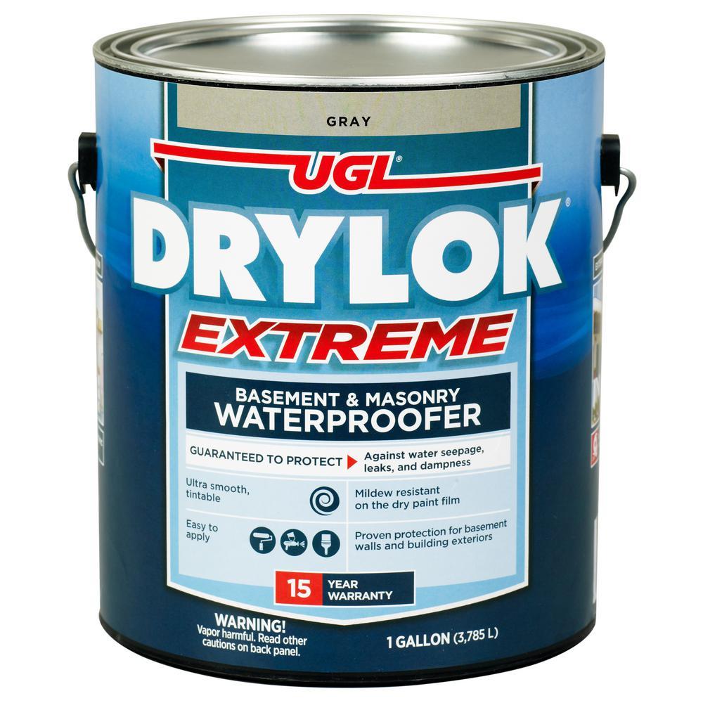 Extreme 1 gal. Gray Flat Latex Interior/Exterior Basement and Masonry Waterproofer