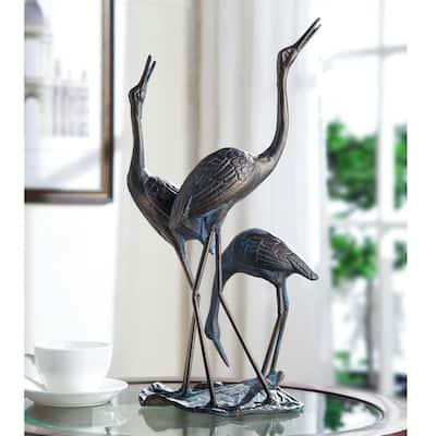 Crane Family Statue