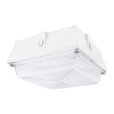 350-Watt Equivalent White Integrated Outdoor LED Security Light, 5200 Lumens, Ceiling/Canopy Security Lighting