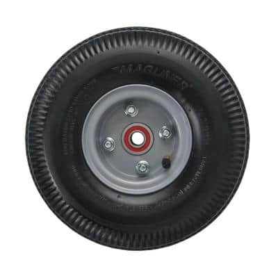 10 in. x 3-1/2 in. Hand Truck Wheel 4-ply Pneumatic with Sealed Semi-Precision Bearings