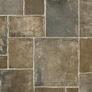 Regina Stone Grey Ceramic Residential Vinyl Sheet Flooring 13.2 ft. Wide x Cut to Length
