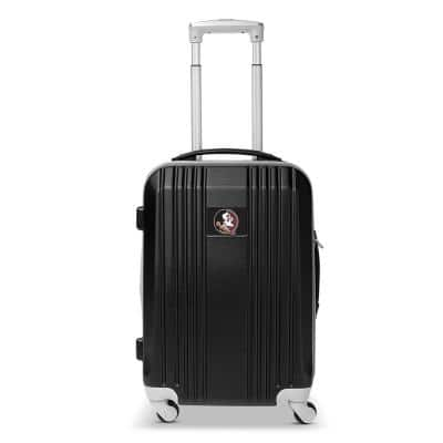 NCAA Florida State 21 in. Black Hardcase 2-Tone Luggage Carry-On Spinner Suitcase