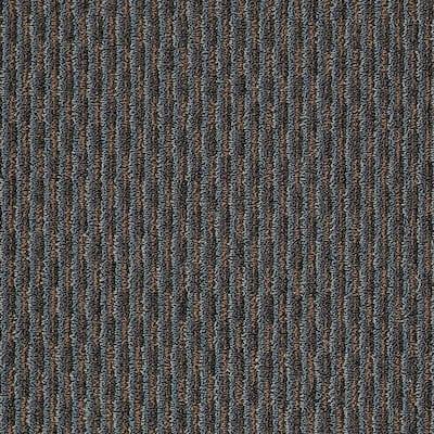 8 in. x 8 in. Berber Carpet Sample - Morro Bay - Color Autumn Blue