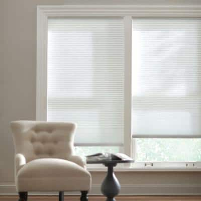 Snow Drift Cordless Light Filtering Cellular Shade  - 29 in. W x 64 in. L