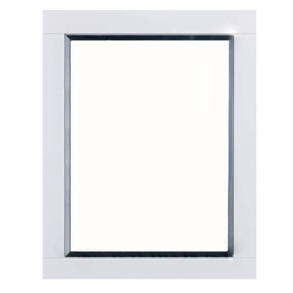 Eviva Aberdeen 24 In W X 30 In H Framed Rectangular Bathroom Vanity Mirror In White Evmr412 24x30 Wh The Home Depot