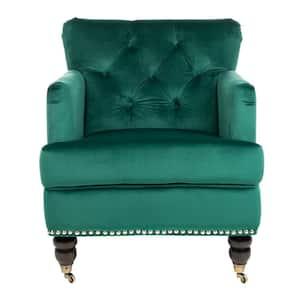 Colin Emerald/Espresso Accent Chair