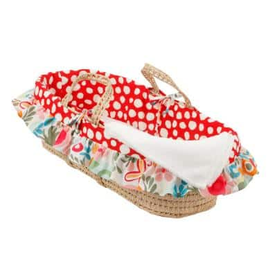 Lizzie Colorful Floral and Dot Moses Basket