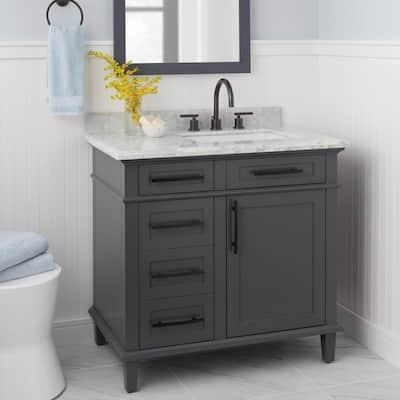 Dorset 8 in. Widespread 2-Handle High-Arc Bathroom Faucet in Bronze