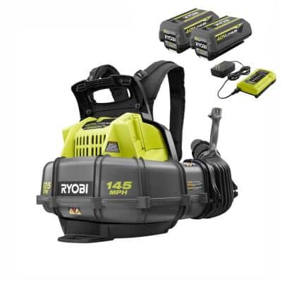 145 MPH 625 CFM 40V Cordless Battery Whisper Series Backpack Blower - (2) 5.0 Ah Batteries and (1) Charger Included