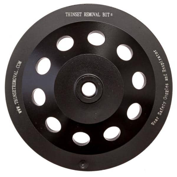 Thinset Removal Bit 7 In Arrow Diamond Grinding Cup Wheel 7adg58 The Home Depot