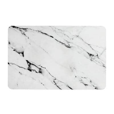 17.5 in. x 13.5 in. Quick Dry Bath Mat in Marble