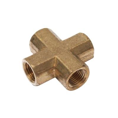 1/8 in. FIP Brass 4-Way Cross Fitting (20-Pack)