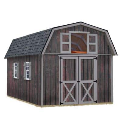 Woodville 10 ft. x 16 ft. Wood Storage Shed Kit