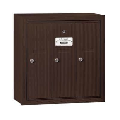 Bronze Surface-Mounted USPS Access Vertical Mailbox with 3 Door