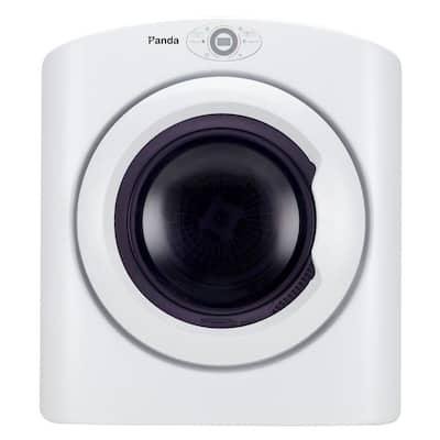 3.5 cu. ft. 120-Volt White Compact Portable Electric Laundry Dryer, Sensor Dryer