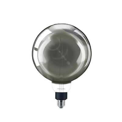25-Watt Equivalent G63 Dimmable Modern Glass Edison LED Large Light Bulb Cool White (4000K)