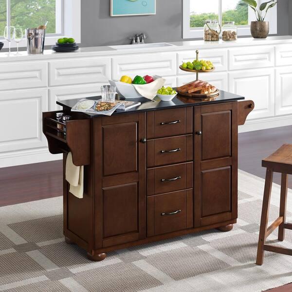 Crosley Furniture Eleanor Mahogany Kitchen Island With Granite Top Kf30174ama The Home Depot