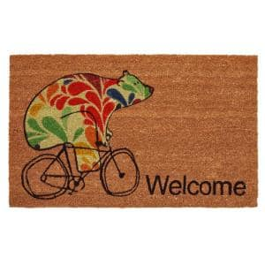 Bear Fun 24 in. x 36 in. Door Mat