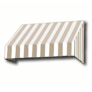 8.38 ft. Wide New Yorker Window/Entry Awning (18 in. H x 36 in. D) Linen/White