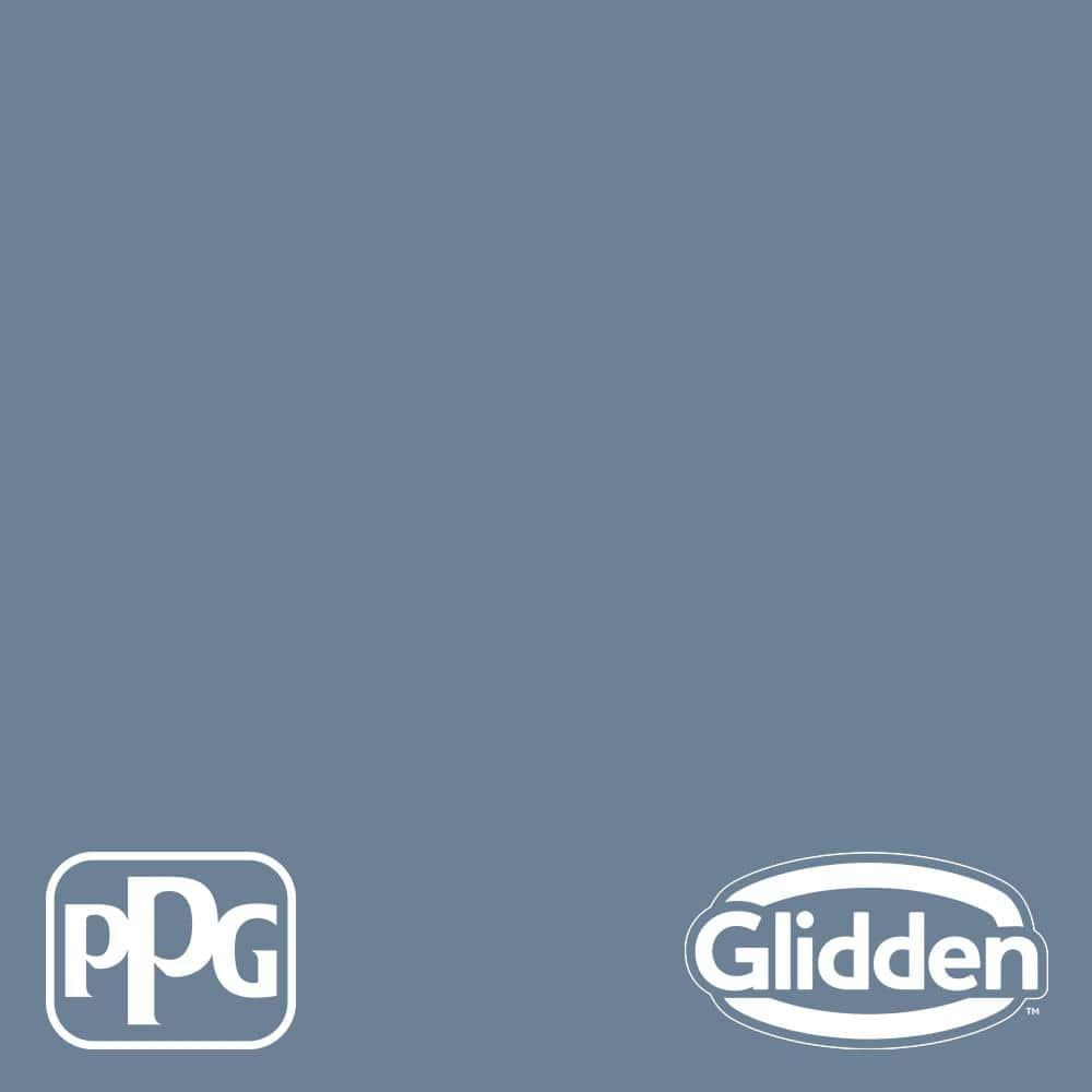 Glidden Premium 5 Gal Ppg1163 5 Silver Blueberry Satin Interior Latex Paint Ppg1163 5p 05sa The Home Depot