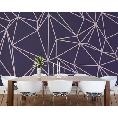 Purple Vertex Wall Mural
