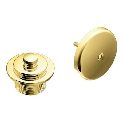 Tub and Shower Drain Covers in Polished Brass