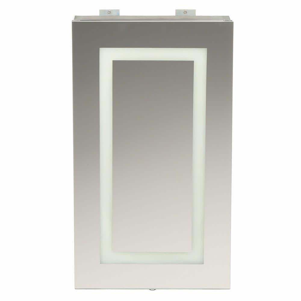 Glacier Bay 15 In X 26 In Frameless Surface Mount Led Mirror Bathroom Medicine Cabinet With Motion Photocell Sensor Sp4627a The Home Depot