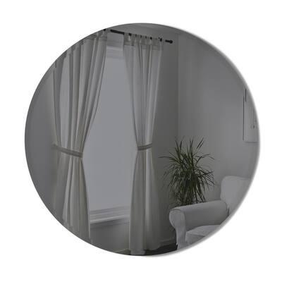 Hub Beveled Round Mirror 36-Smoke