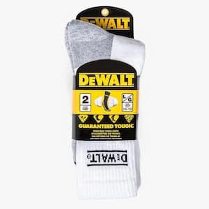 Men 10-13 Black All-Season Cotton Crew Work Socks (2-Pack)