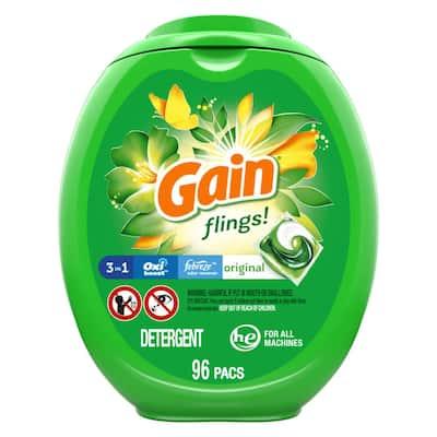 Flings Original Scent Laundry Detergent Pods (96-Count)