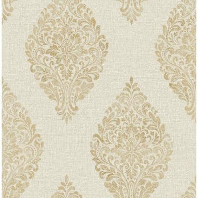 Pascale Gold Medallion Strippable Wallpaper (Covers 56.4 sq. ft.)