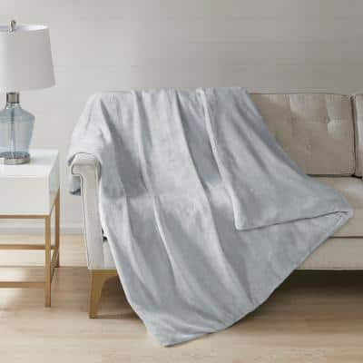 Plush Grey Full/Queen 12 lbs. Weighted Blanket