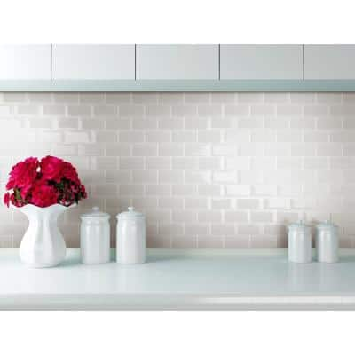 Shiraz Light Gray 11.73 in. x 11.73 in. x 5mm Glass Peel and Stick Wall Mosaic Tile (5.74 sq. ft./Case)