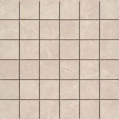 Havana Cream 12.28 in. x 12.28 in. Squares Matte Ceramic Mosaic Tile (1.048 sq. ft./Each)