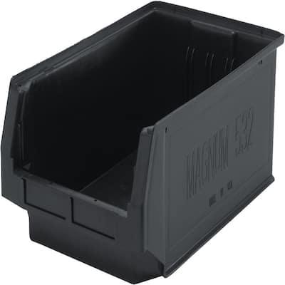 Magnum 8-Gal. Storage Tote in Black (6-Pack)