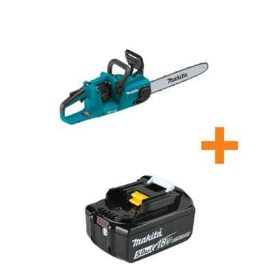18V X2 (36V) LXT Lithium-Ion Brushless Cordless 16 in. Chain Saw, Tool Only with Bonus 18V LXT Lithium-Ion 5.0Ah Battery