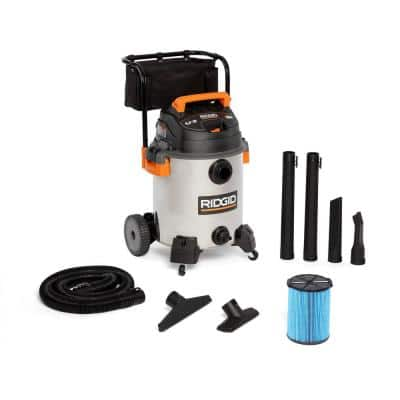 16 Gallon 6.5-Peak HP Stainless Steel Wet/Dry Shop Vacuum with Fine Dust Filter, Hose and Accessories