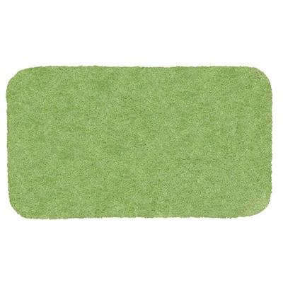 Royal Apple Green 21 in. x 34 in. Nylon Machine Washable Bath Mat