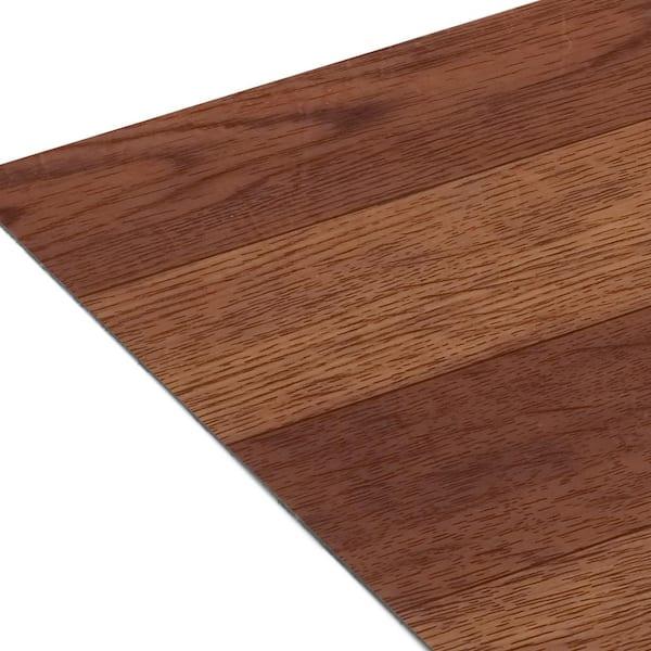 20 Tiles//20 sq Medium Oak Plank-Look 12x12 Self Adhesive Vinyl Floor Tile ft.